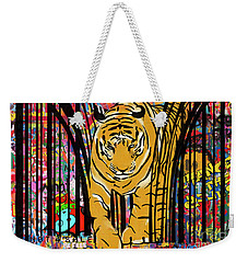 Graffiti Tiger Weekender Tote Bag by Sassan Filsoof