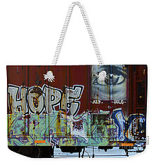 Grafitti Art Riding The Rails 6 Weekender Tote Bag