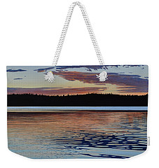 Weekender Tote Bag featuring the painting Graham Lake by Kenneth M Kirsch
