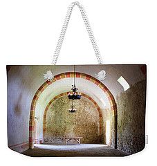 Weekender Tote Bag featuring the photograph Granary - Mission San Jose' by Beth Vincent