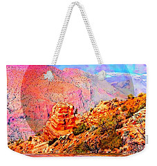 Weekender Tote Bag featuring the digital art Grand Canyon By Nico Bielow by Nico Bielow