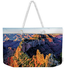 Weekender Tote Bag featuring the painting Grand Canyon Cape Royal by Christopher Arndt