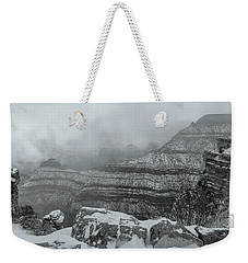 Grand Canyon In The Fog Weekender Tote Bag