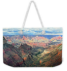 Weekender Tote Bag featuring the digital art Grand Canyon by Kai Saarto
