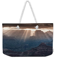 Weekender Tote Bag featuring the photograph Grand Canyon Morning Light Show Pano by William Lee