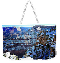 Grand Canyon National Park In Winter Weekender Tote Bag