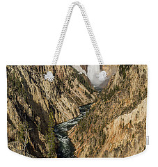 Grand Canyon Of The Yellowstone And Yellowstone Falls Weekender Tote Bag