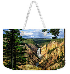 Grand Canyon Of The Yellowstone Waterfall Weekender Tote Bag