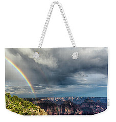 Grand Canyon Stormy Double Rainbow Weekender Tote Bag