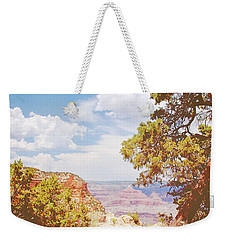Grand Canyon View With Pine Tree Weekender Tote Bag by A Gurmankin