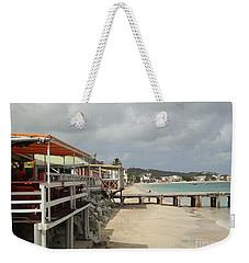 Grand Case Pier Weekender Tote Bag by Margaret Brooks