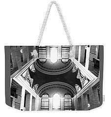 Weekender Tote Bag featuring the photograph Grand Central Terminal Mirrored by Diana Angstadt