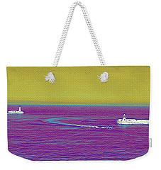 Purple Sea Weekender Tote Bag