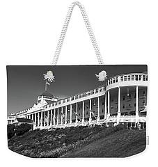 Grand Hotel Mackinac Island 2 Bw Weekender Tote Bag by Mary Bedy