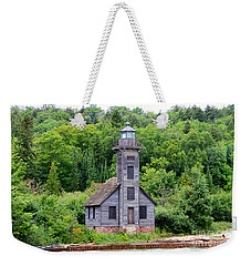 Weekender Tote Bag featuring the photograph Grand Island East Channel Lighthouse #6549 by Mark J Seefeldt