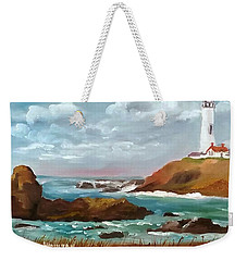 Grand Lighthouse Weekender Tote Bag by Larry Hamilton
