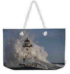 Weekender Tote Bag featuring the photograph Grand Marais Light House by Paul Freidlund