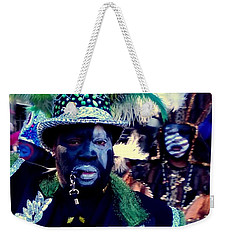 Grand Marshall Of The Zulu Parade Mardi Gras 2016 In New Orleans Weekender Tote Bag