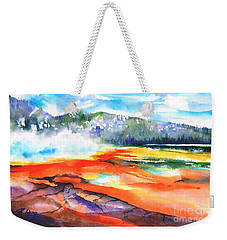 Grand Prismatic Hot Spring Weekender Tote Bag