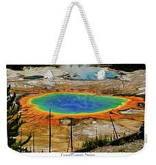 Grand Prismatic Spring Weekender Tote Bag by Greg Norrell