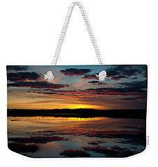 Grand River Sunset Weekender Tote Bag by WB Johnston