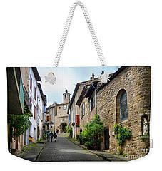 Grand Rue De L'horlogue In Cordes Sur Ciel Weekender Tote Bag by RicardMN Photography