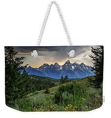 Grand Stormy Sunset Weekender Tote Bag
