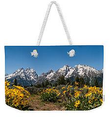 Grand Teton Arrow Leaf Balsamroot Weekender Tote Bag