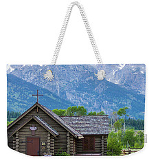 Grand Teton Church Weekender Tote Bag by Dawn Romine