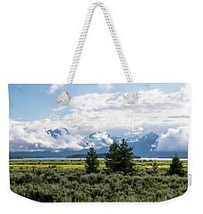 Grand Teton Countryside Weekender Tote Bag by Serge Skiba