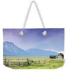 Grand Teton Homestead Weekender Tote Bag by Dawn Romine