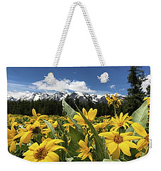 Grand Teton Mountains Weekender Tote Bag