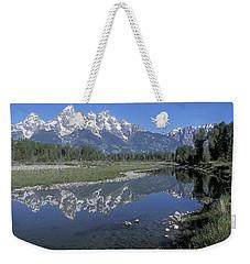 Grand Teton Reflection At Schwabacher Landing Weekender Tote Bag