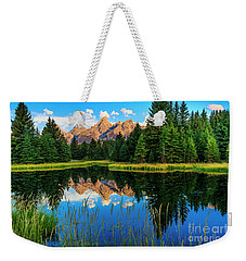 Grand Teton Reflections In Snake River Weekender Tote Bag
