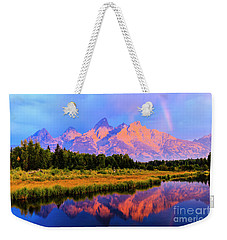Grand Teton Sunrise Weekender Tote Bag