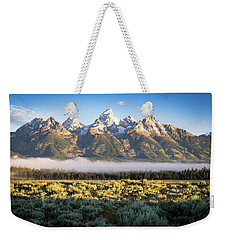 Grand Teton Sunrise Weekender Tote Bag by Serge Skiba