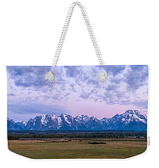 Grand Tetons Before Sunrise Panorama - Grand Teton National Park Wyoming Weekender Tote Bag