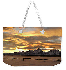 Grand Tetons In January Glory Weekender Tote Bag