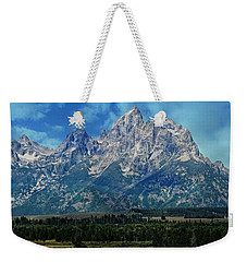 Weekender Tote Bag featuring the photograph Grand Tetons by Katie Wing Vigil
