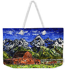 Grand Tetons With Buffalo Weekender Tote Bag