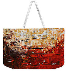 Weekender Tote Bag featuring the painting Grand Vision by Carmen Guedez