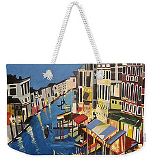 Grande Canal Weekender Tote Bag by Donna Blossom