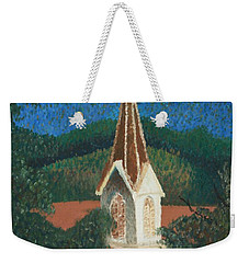 Grandmas Church Weekender Tote Bag by Jacqueline Athmann
