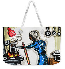 Grandma's Kitchen Weekender Tote Bag by Andy Crawford