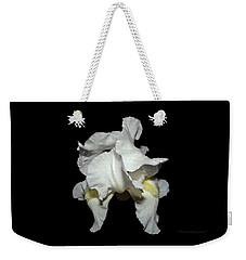 Grandma's White Iris Weekender Tote Bag
