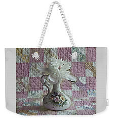 Grandmother's Vase And Her Son's Quilt Weekender Tote Bag