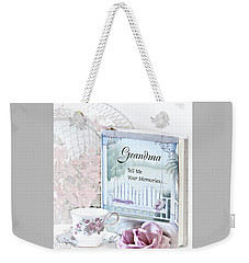 Grandmother...tell Me Your Memories Weekender Tote Bag by Sherry Hallemeier