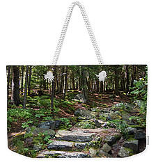 Weekender Tote Bag featuring the photograph Granite Steps, Camden Hills State Park, Camden, Maine -43933 by John Bald