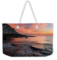 Granite Sunset Rockport Ma. Weekender Tote Bag