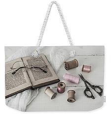 Weekender Tote Bag featuring the photograph Grannys Treasures by Kim Hojnacki